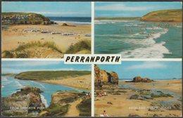 Multiview, Perranporth, Cornwall, 1963 - Salmon Postcard - England