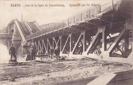 Cpa-bel-namur- Pont De La Ligne Du Luxembourg,dynamité Par Les Belges-personnages- - Namur