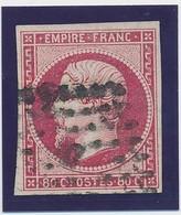 "80 C Rose Vif N° 17 B Obl Paris ""D"" Grd Logt TB. - 1853-1860 Napoléon III"