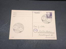 ALLEMAGNE - Entier Postal De Dresden En 1950 Pour Halle - L 17594 - Postkarten - Gebraucht
