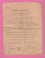 CERTIFICAT DU 9° REGIMENT DU GENIE DEPOT A PONTS DE CE DROIT AU PORT DU RUBAN AVEC ETOILE ROUGE DE 1917 - Documents