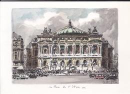 Grande Doubles --PARIS--la Place De L'opéra---illustration  LA BRIGE---voir 2 Scans - Cartes