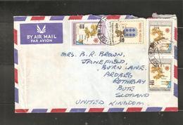 Portuguese India Airmail Cover To UK - Portuguese India