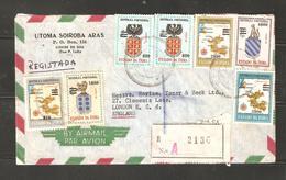Portuguese India Registered Airmail Cover To UK - Portuguese India