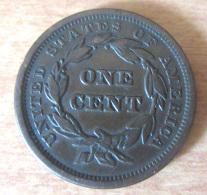 "Belle Et Rare Monnaie One Cent (1 Cent) 1841 Liberty ""Braided Hair"" En état TTB+ / SUP - Federal Issues"