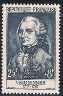 FRANCE : N° 1030 ** (Charles Gravier, Comte De Vergennes) - PRIX FIXE - - France