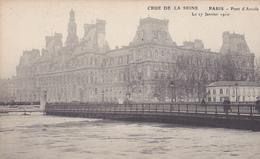 75. PARIS. INONDATIONS DE 1910.  PONT D'ARCOLE. CRUE DE LA SEINE DU 27 JANVIER 1910 - Paris Flood, 1910