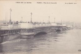 75. PARIS. INONDATIONS DE 1910.  PONT DE LA CONCORDE. CRUE DE LA SEINE DU 27 JANVIER 1910 - Paris Flood, 1910