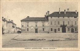 Dorno Lomellina (Pavia, Lombardia) Piazza Umberto I, Umberto I Square, Place Umberto I - Pavia
