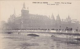 75. PARIS. INONDATIONS DE 1910.  PONT LOUIS PHILIPPE. CRUE DE LA SEINE DU 27 JANVIER 1910 - Paris Flood, 1910