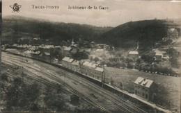 Trois Ponts Interieur De La Gare - Gares - Sans Trains