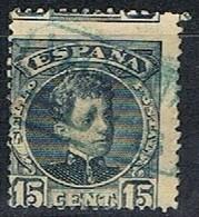 Sello 15 Cts Alfonso XIII Cadete, VARIEDAD Descentrado, Num 244 º - Usados