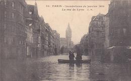75. PARIS. INONDATIONS DE 1910.  LA RUE DE LYON - Paris Flood, 1910