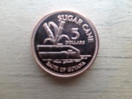 Guyane  5  Dollars  2008  Km 51  Neuve - Guyana