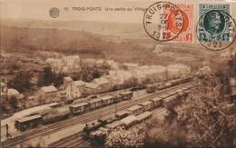 Trois Ponts Une Partie Du Village - Gares - Avec Trains