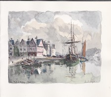 Grande Double --56----le Port D' AURAY--illustration  LA BRIGE---voir 2 Scans - Maps