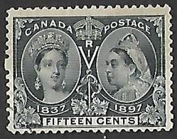 Canada  1897  Sc#58  15c  Jubilee Used  2016 Scott Value $190 - Gebruikt