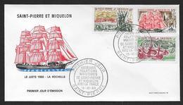 St Pierre Et Miquelon - N° 395 / 397  Sur FDC - ( Cote Des Timbres Oblitérés 36,00 € ) - FDC
