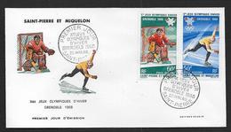 St Pierre Et Miquelon - N° PA 40 / 41  Sur FDC - ( Cote Des Timbres Oblitérés 11,60 € ) - FDC