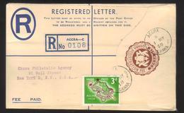 8121- Ghana , Registered Cover - Ghana (1957-...)