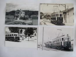 LA CIOTAT (13) : Ligne De Tramway Gare PLM - Ville - Lot De 3 CPM + 1 Photos - Détails 2 Scans - Tramways
