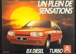 NUGERON  J 137  PUB Publicité  CITROEN 1988 Campagne Publicitaire Un Plein De Sensations BX TURBO * PRIX FIXE - Publicité