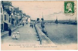 La Croisic, Quai Du Port Ciguet Et La Passerelle (pk44776) - Le Croisic