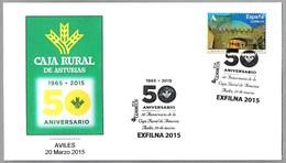 50 Años CAJA RURAL DE ASTURIAS. Aviles, Asturias, 2015 - Sellos