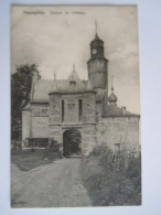 Trazegnies Donjon Du Château Circulée 1908 - Courcelles