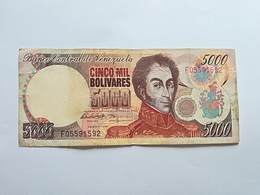 VENEZUELA 5000 BOLIVARES 1998 - Venezuela
