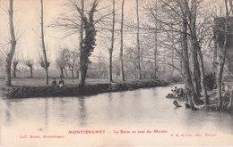 CPA MONTIERAMEY (10) LE BARRAGE EN AVAL DU MOULIN - ANIMEE - France
