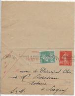"""1927 - SEMEUSE VARIETE """"0"""" COUPE Sur CARTE-LETTRE ENTIER De PARIS => LAGNY - Variétés: 1921-30 Lettres & Documents"""