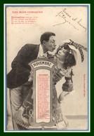CPA Précurseur Bergeret Les Mois Comiques Novembre Voy Blanc.1904 Epernay > 9é Chasseurs à Lonwy Haut - Bergeret