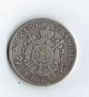 France 2 Francs 1867 Napoléon III - France