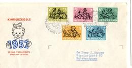 Pays-Bas YT N° 582/586 Oblitérés Sur Enveloppe FDC. TB. A Saisir! - FDC