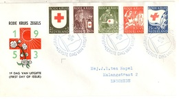 Pays-Bas YT N° 595/599 Oblitérés Sur Enveloppe FDC. TB. A Saisir! - FDC