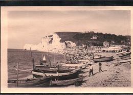 CPA 76 CARTE PHOTO ETRETAT  Panorama De La Plage Et Des Falaises - Etretat