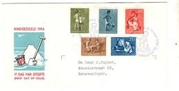 Pays-Bas YT N° 626/630 Oblitérés Sur Enveloppe FDC. TB. A Saisir! - FDC