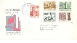 Pays-Bas YT N° 634/638 Oblitérés Sur Enveloppe FDC. TB. A Saisir! - FDC