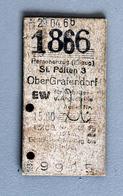 Billet Carton St Polten-OberGrafendorf Coll Schnabel 1966 - Spoorwegen