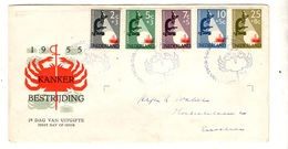 Pays-Bas YT N° 639/643 Oblitérés Sur Enveloppe FDC. TB. A Saisir! - FDC