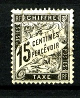 Taxe  16 - 15c Noir - Oblitéré - Très Beau - Impuestos