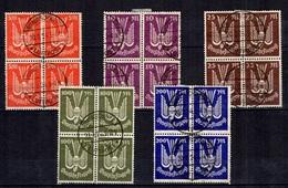 Allemagne/Reich Poste Aérienne Michel N° 263/267 En Blocs De 4 Oblitérés. B/TB. A Saisir! - Airmail