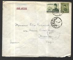 Lettre D'Egypte Par Avion  Du Caire Vers  Mirecourt - Poste Aérienne