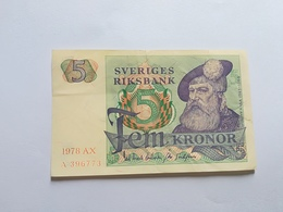 SVEZIA 5 KRONOR 1978 - Svezia