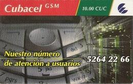 CUBACEL GSM - ETECSA - 10.00 CUC - Cuba