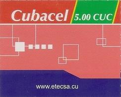 CUBACEL - Recharge Internet  - Etecsa - 5.00 CUC - Cuba