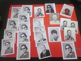 LOT De 20  Photos Photographie Photo Originale D'identité Personnes Masculin - Féminin   Non Classés - Photographs
