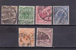 Deutsches Reich, Nr. 45/50 Gest. (T 5664) - Oblitérés