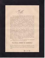 SAINT-GERMAIN-EN-LAYE Henri-Etienne BRISOUT De BARNEVILLE 1887 76 Ans Famille LENORMANT LACOSTE - Obituary Notices